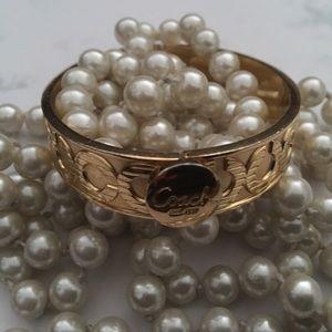 Coach signature🔥 C 🔥 Bangle Gold tone Bracelet